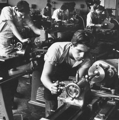 school shop class, 1950s