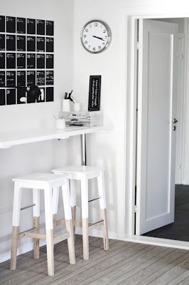 DIY dipped IKEA stools