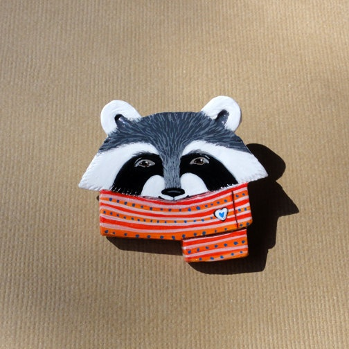Ramona Raccoon brooch!