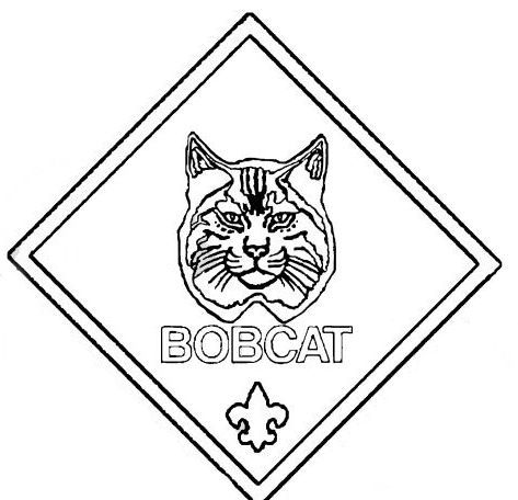 Cub scout bobcat pages coloring pages for Tiger cub scouts coloring pages