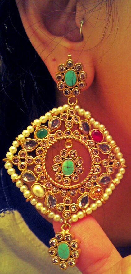 GOLD plated EXQUISITE Traditional SILVER Turquoise by ZamarutJewel, $389.99