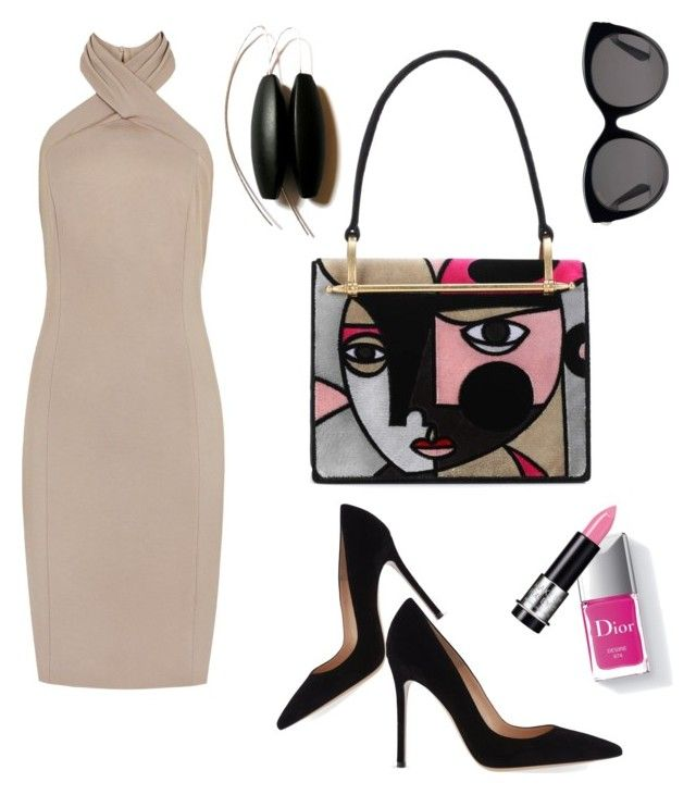 """Eyes on me"" by alexiss-yvore on Polyvore featuring Prada, Gianvito Rossi, Gucci, Couture Colour, MAKE UP FOR EVER and statementbags"