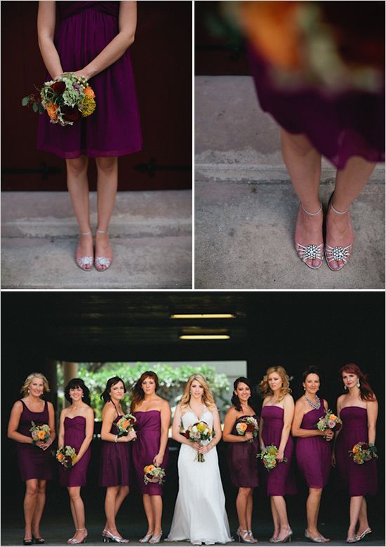 love the colour of the bridesmaids dresses!