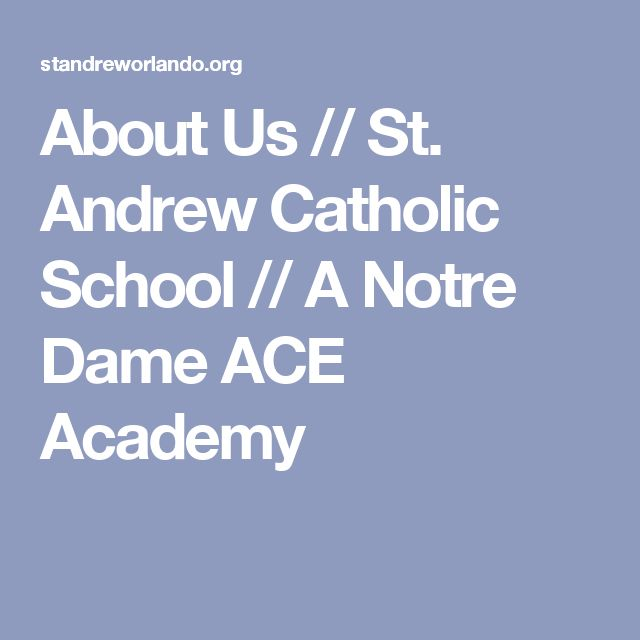About Us // St. Andrew Catholic School // A Notre Dame ACE Academy