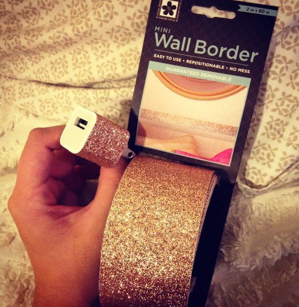 Just in case you didnt know this exists at Walmart for less than $4 per roll. Im about to glitter everything! Votives, notebooks (already got my iPhone charger.) No more Modge Podge and glitter nightmares!