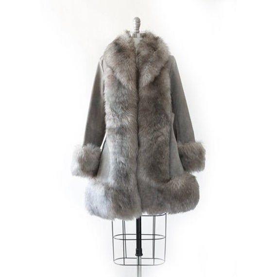 70s Shearling Ear warmers Collar