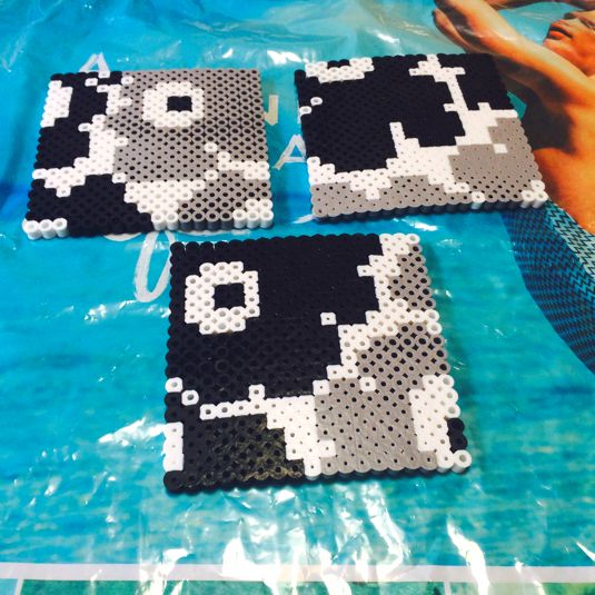 Inspired Marimekko coaster set perler beads by family0825
