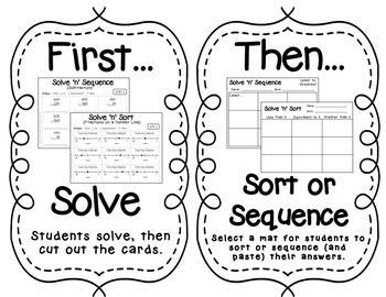 solve 39 n 39 sequence math activities 3rd grade activities math and math activities. Black Bedroom Furniture Sets. Home Design Ideas