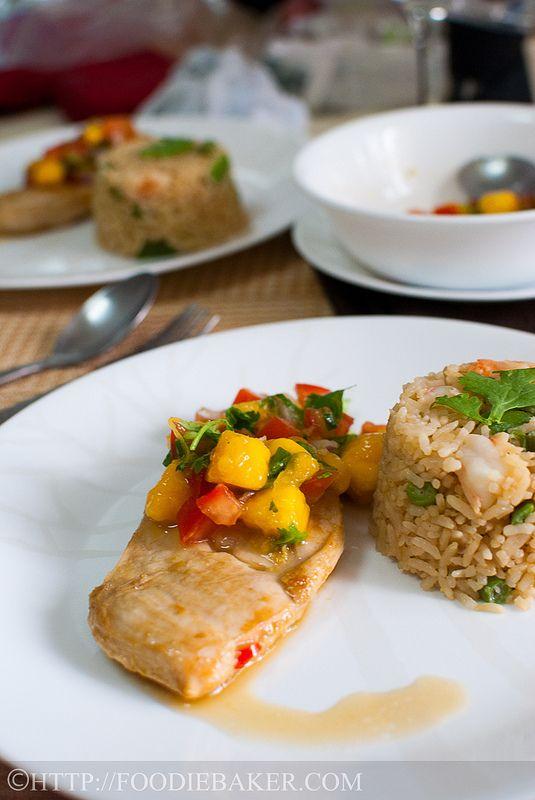 Mango Salsa Chicken {so Tropical!}