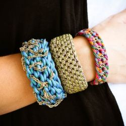DIY Utility Cord Bangles. Add something that truly stands out to your arm party!