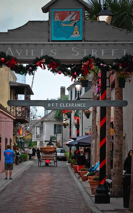 Christmas on Aviles Street, St. Augustine, Florida. December is a great month to visit this lovely city!