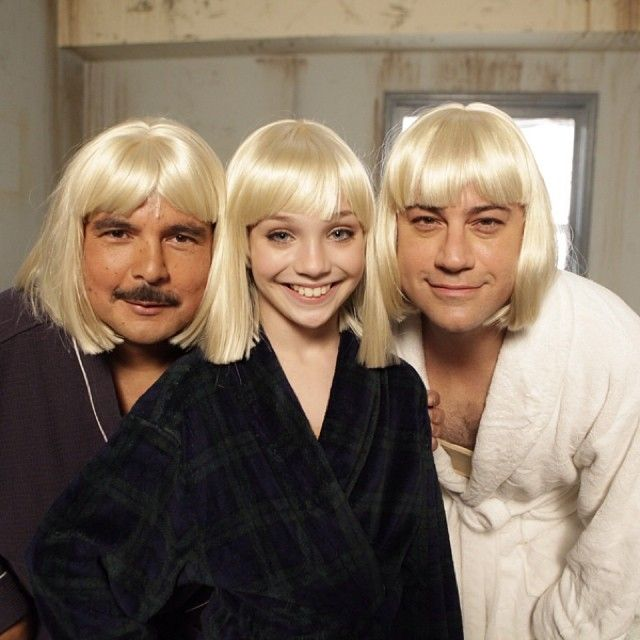 .@MaddieZiegler from @Sia's #Chandelier video teaches me & @IamGuillermo how to dance tonight. Not that we need help. by @jimmykimmel