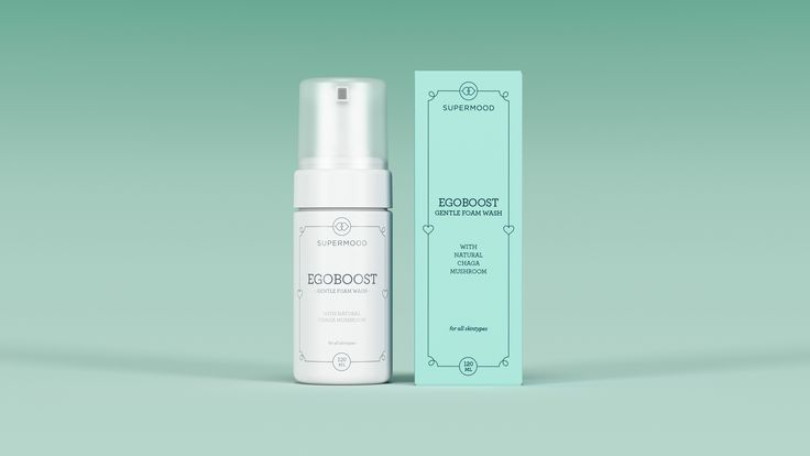Supermood Egoboost - Pure Micellar Toner 30ml | Soft, purifying micellar foam toner with natural Chaga.