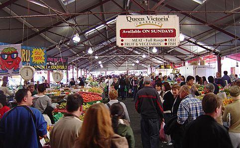 Queen Victoria Markets where Sam Sullivan worked on weekends.