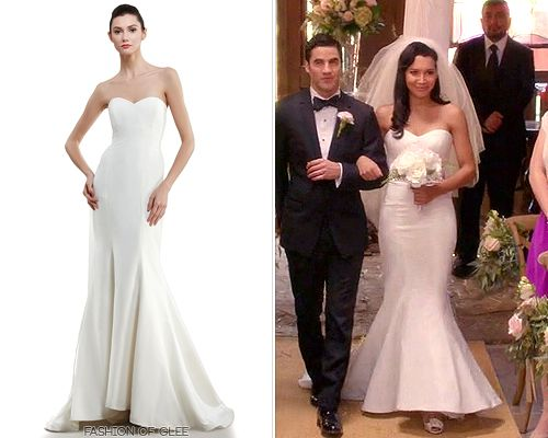 Quite The Contrast To Brittany's Embellished Gown, Santana