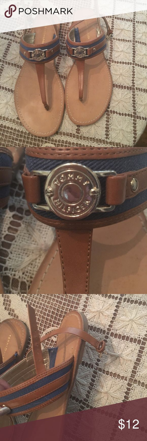 Tommy Hilfiger sandals in women's 7.5 Sandals for sale women's 7.5 TH Tommy Hilfiger Shoes Sandals