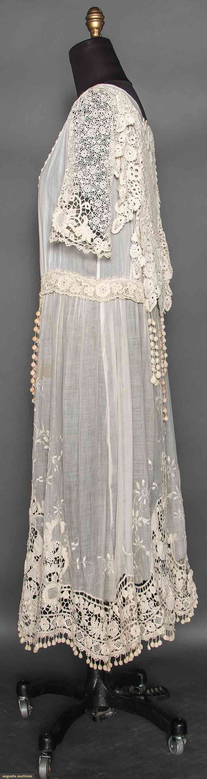 Irish Lace Tea Gown, C. 1918, Augusta Auctions, April 8, 2015 NYC, Lot 93