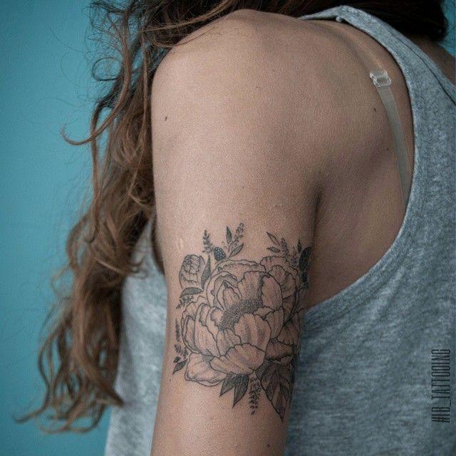 Peony flower tattoo. Tattoo artist Irene Bogachuk. #IB_TATTOOING  @irenebogachuk