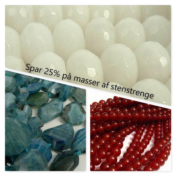 25% rabat på masser af stenstrenge: http://amazy.dk/324-spar-25