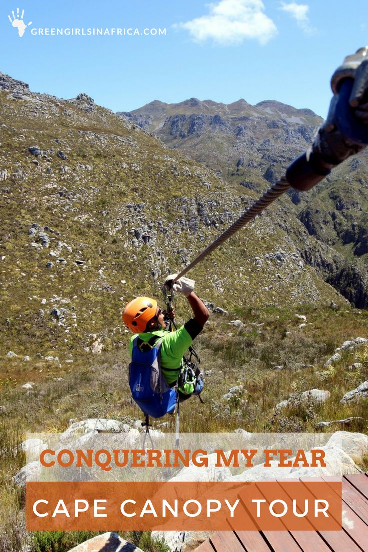 The sharp bleak peaks, craggy cliffs, green valleys with trickling clear streams, flowering Proteas, perfect blue skies, and the peacefulness of the reserve left me speechless and evaporated the last of my apprehension. Cape Canopy Tour - what an adventure. Location: Hottentots Holland Nature Reserve, Western Cape, South Africa)
