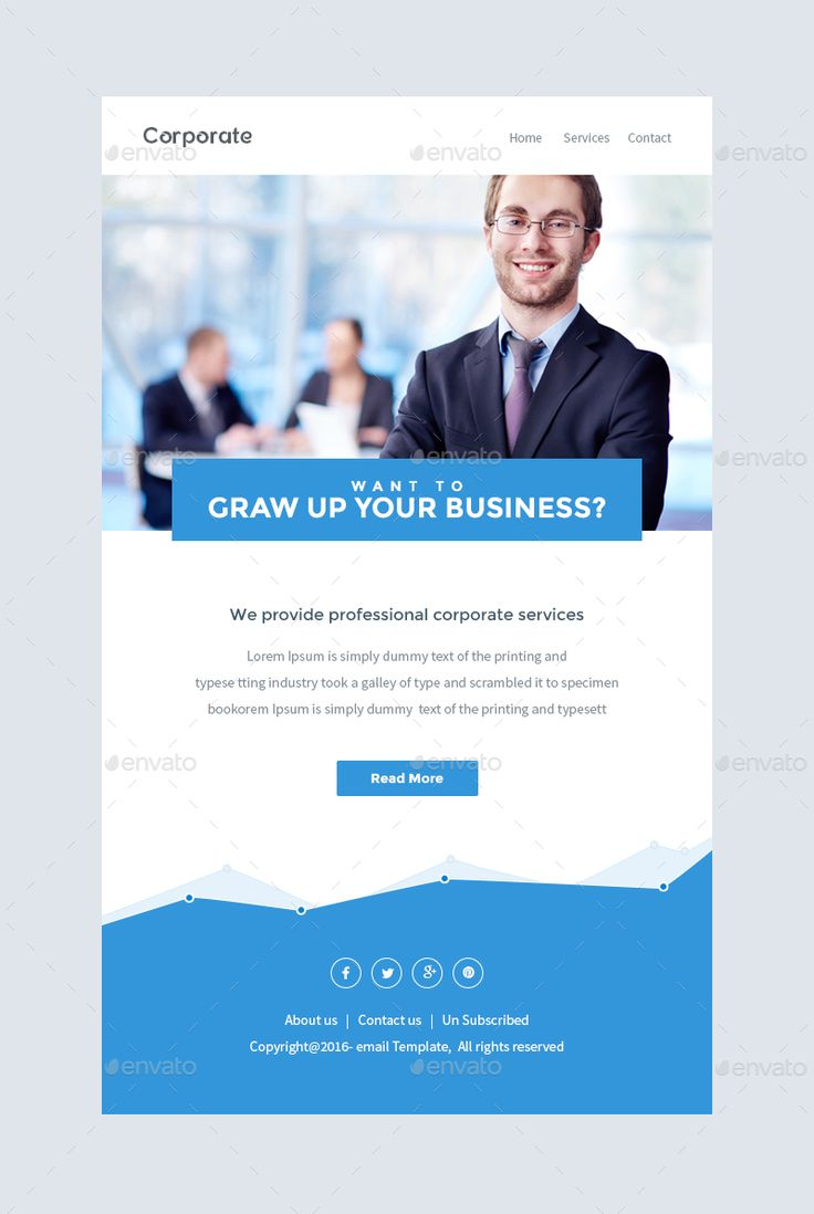 Notify notification email template psd email templates