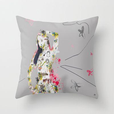 Rock My World Throw Pillow by andréart - $20.00