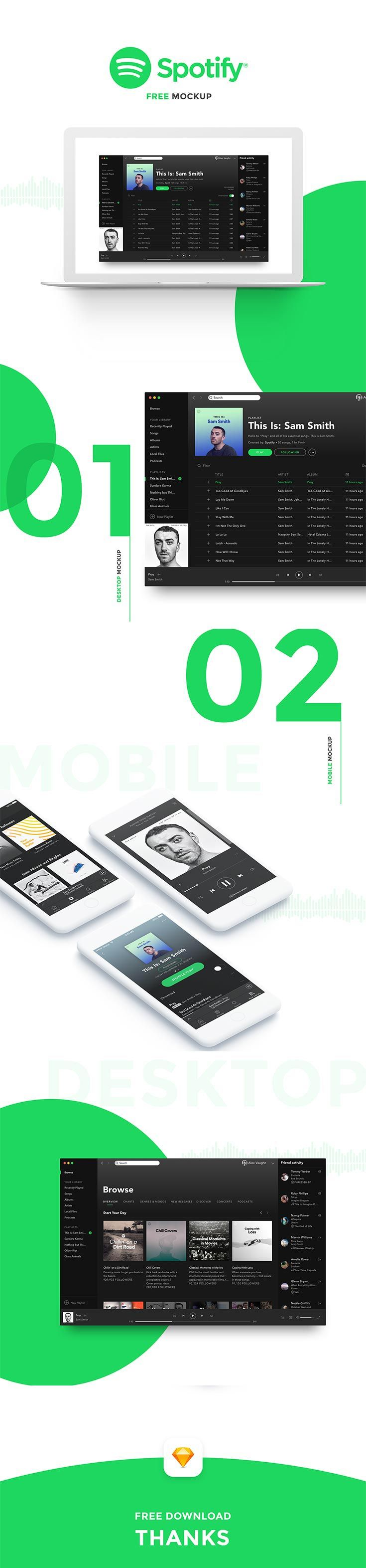 Free Spotify Mockup Mockup Spotify Spotify Mobile