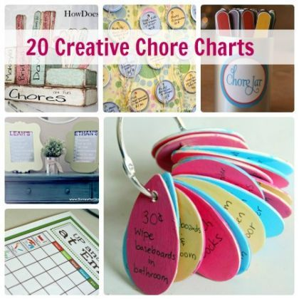 Happy Helpers- 20 Creative Chore Charts for Kids