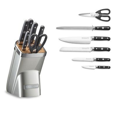 KitchenAid(R) 7-Piece Professional Knife Set, Sugar Pearl Silver