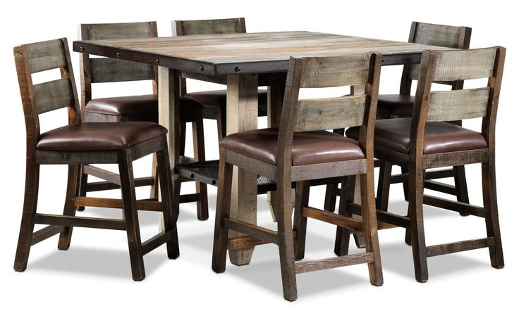 Allison Pine 7 Pc Pub Dining Room Package Well Now I Have To Buy It Dec