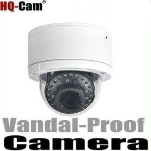 "HQ-Cam® Security Surveillance Camera - 1/3"" Sony Super HAD II CCD 2.8mm - 12mm VF Lens 700TV Color Lines High Resolution Day Night CCTV Home Video Security Camera Outdoor/indoor by HQ-CAM. $145.99. Product Type:Color Vandal-Proof Dome Camera Image Sensor:1/3"" Sony Super HAD II CCD Effective Pixels:768 (H) x 494 (V) Horizontal Resolution:700 TV Lines Minimum Illumination:0 Lux, 35 IR LED Lens:Built-in 2.8-12mm Lens S/N Ratio:More than 48 dB Signal System:NTSC Video Ou..."