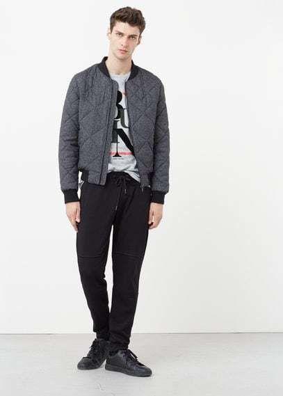 Mango Outlet Plush cotton-blend training trousers
