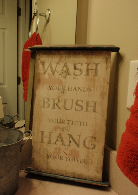 Bathroom Rules Granny Always Said Wash Your Face Brush Your Teeth Comb