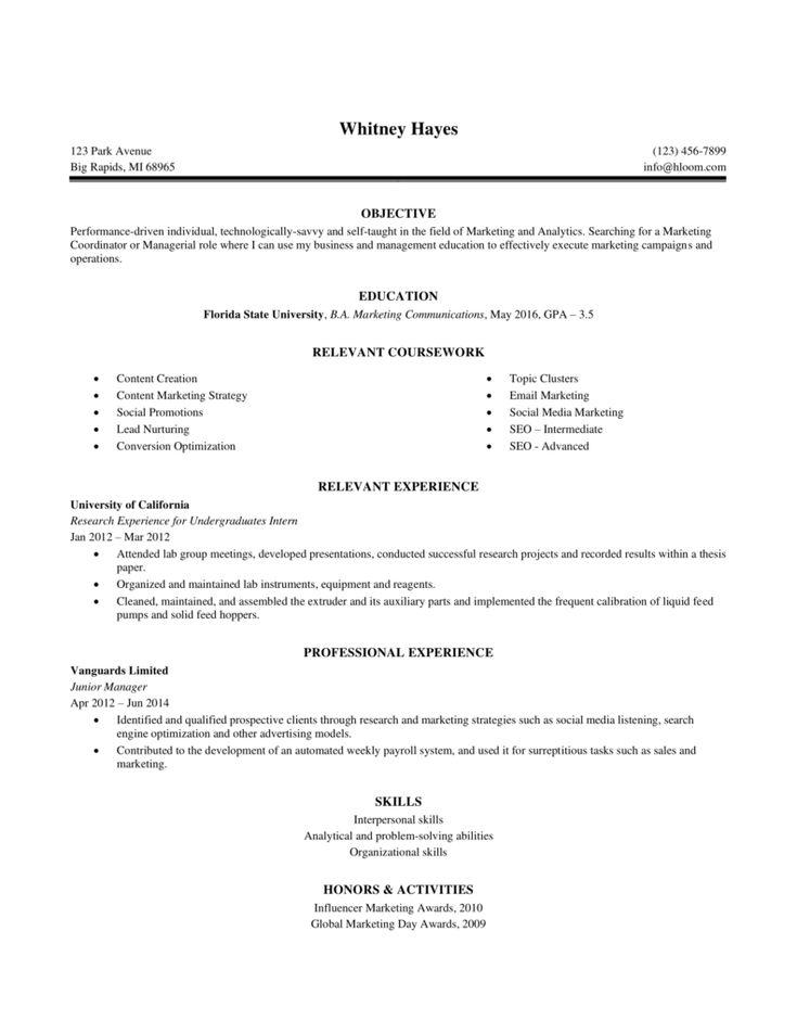 Internship resume sample 4 5706 downloads free resume