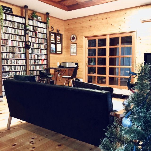 Studio crip/クリスマス/大量CD/ディアウオール/すのこブックシェルフDIY…などのインテリア実例 - 2015-11-14 07:45:08   RoomClip(ルームクリップ)