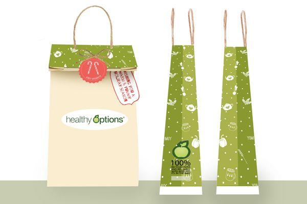 Healthy Options PaperBag Design (Holiday Edition) on Behance