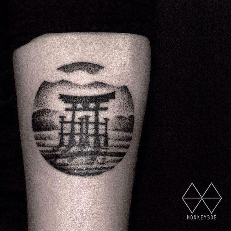 torii gate tattoo - 736×736