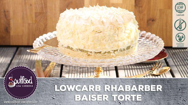 LowCarb Rhabarber-Baiser-Torte