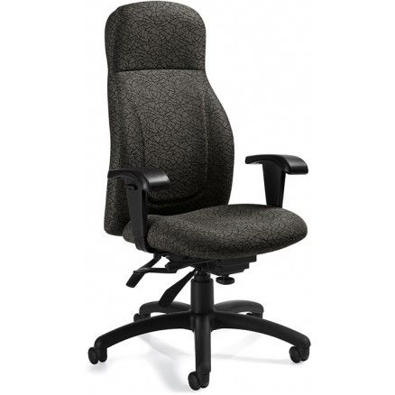Global Echo 3670-3 Multi-Tilter High Back Chair - Time - Steel T609 FREE Shipping in Canada at Ugoburo.ca!