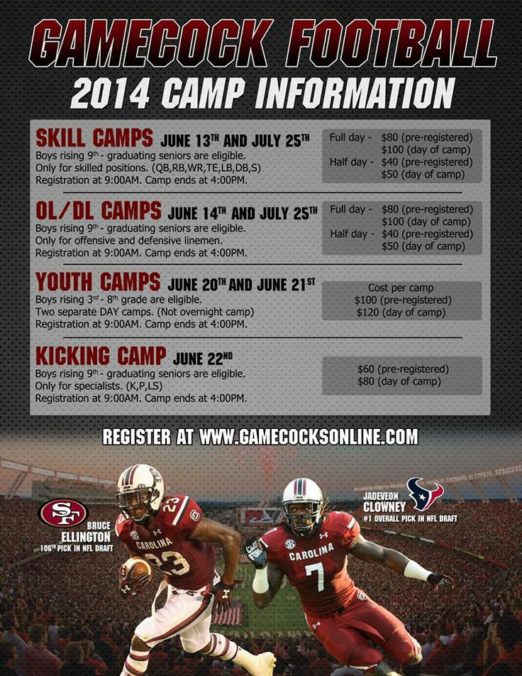 Gamecock Football 2014 Youth Camp Information