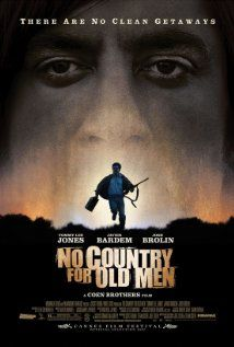 No Country for Old Men (2007)  Directed by Ethan Coen and Joel Coen.  Based on the novel by Cormac McCarthy.  Starring Tommy Lee Jones, Javier Bardem, and Josh Brolin.