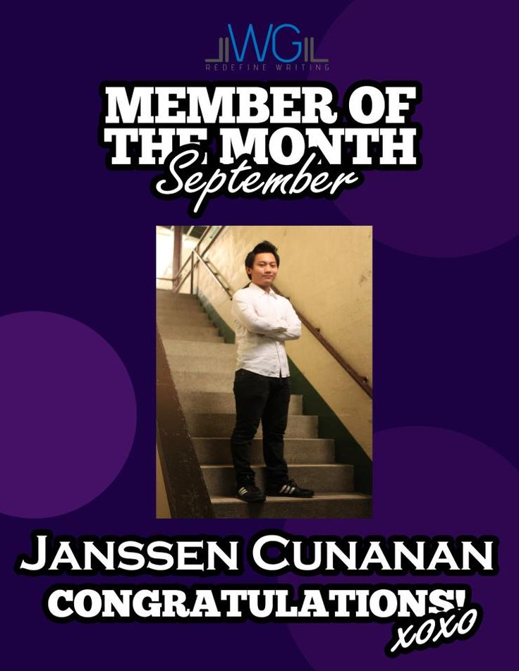 Janssen Cunanan - Member of the Month for September