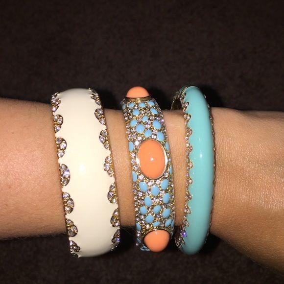 Three Stella and dot bracelets Three Stella and dot bracelets. Love them as a set. Bought separately. Dressy and casual. Stella & Dot Jewelry Bracelets