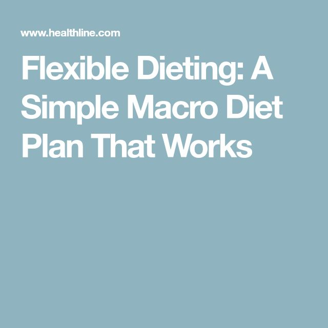 Flexible Dieting: A Simple Macro Diet Plan That Works