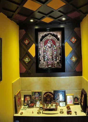 Decorate pooja room design in lavish manner