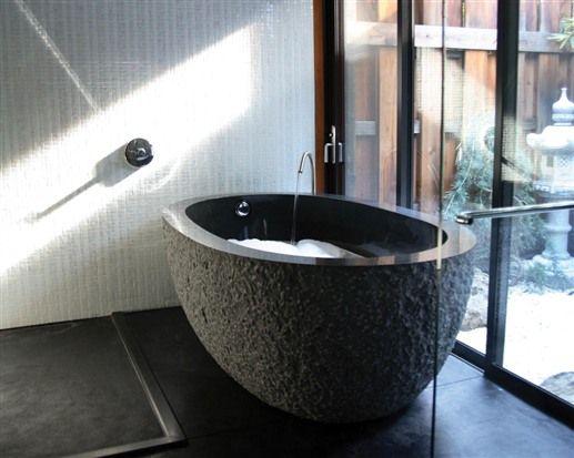 Deep soaking tub at Gaige House in Glen Ellen, California