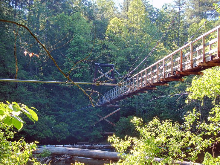 Nc blue ridge parkway swinging bridge speaking, recommend
