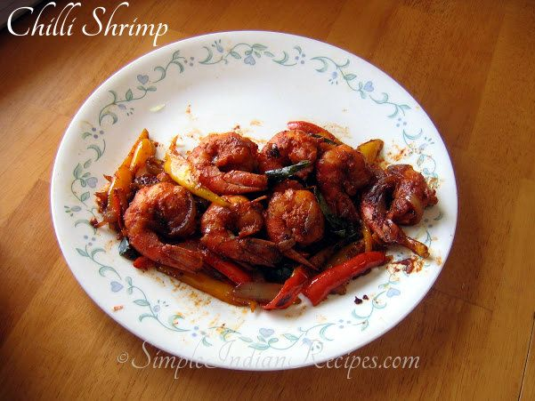 Chilli Shrimp: An easy to do, tasty and spicy side dish with shrimp or prawns marinated with Indian spices. Try the recipe @ http://simpleindianrecipes.com/chillishrimp.aspx