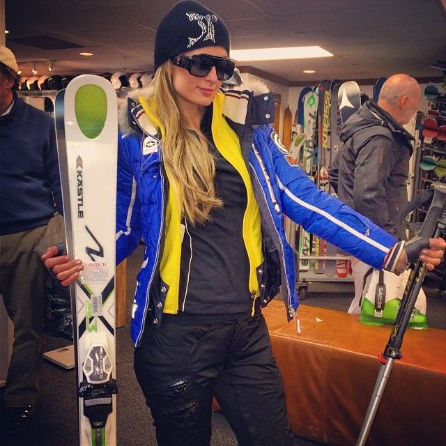 blue bogner coat Gorsuch ski store kastle skis 12 Snelfies Prove Paris Hilton Loses Snow Bunny Status On Aspen Ski Trip   Nubry - San Diego's #1 Fashion, Beauty, Events And Lifestyle Blog - What To Wear, Insider Tips, & Celebrity Trends