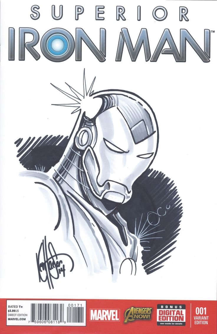 Superior Iron Man sketched and signed by Ken Haeser for Dynamic ... size: 736 x 1133 post ID: 8 File size: 0 B